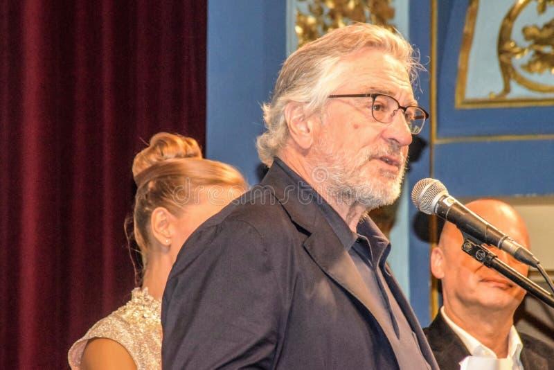 Robert De Niro, 22ste de Filmfestival van Sarajevo, Hart van Sarajevo royalty-vrije stock foto