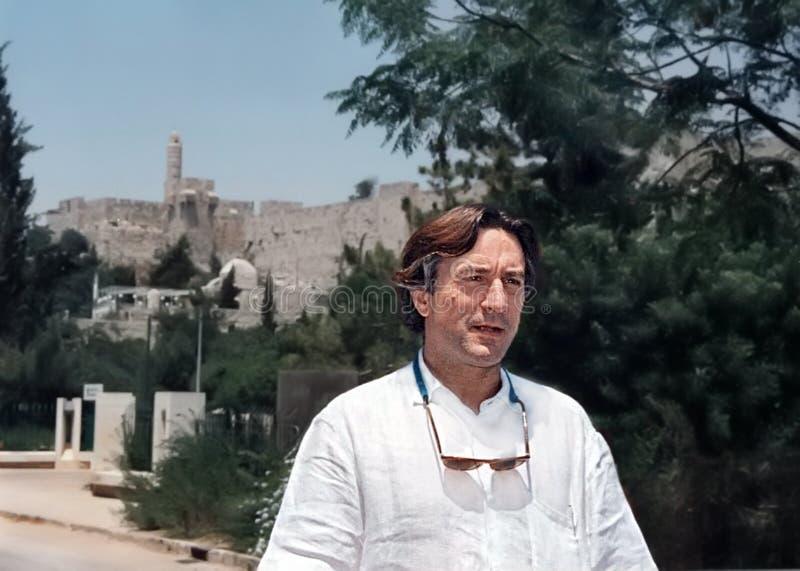 Robert DeNiro i Jerusalem royaltyfri bild