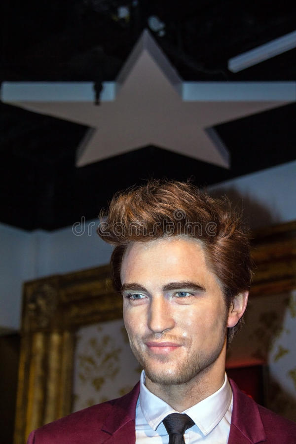 Robert Douglas Thomas Pattinson im Wachsmuseum Madame Tussaud stockbild