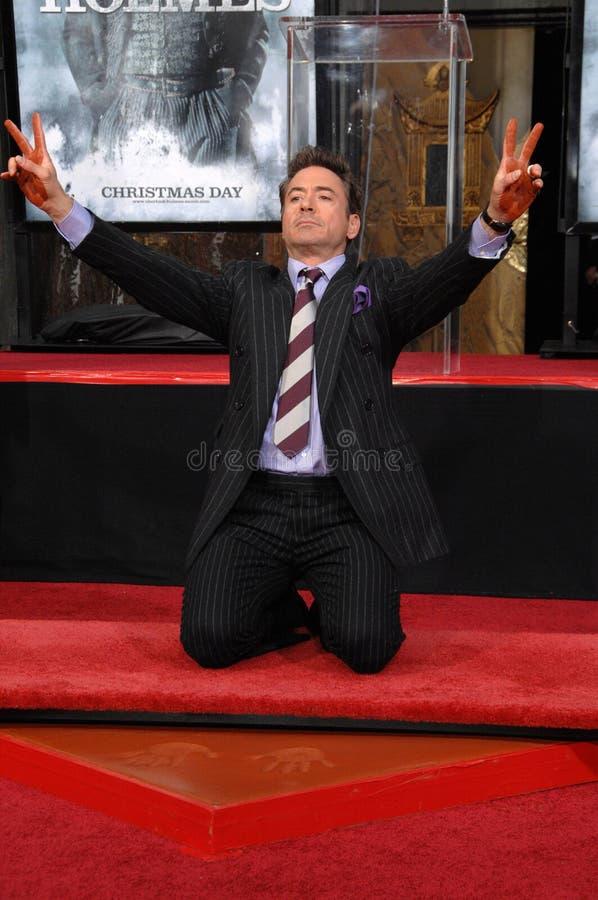 Robert Downey Jr lizenzfreie stockbilder