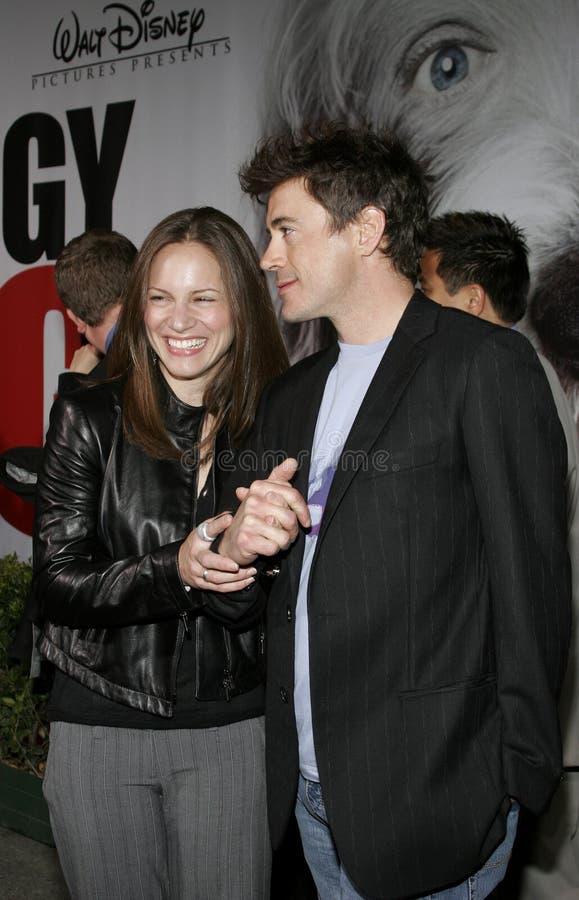 Robert Downey Jr en Susan Downey royalty-vrije stock fotografie