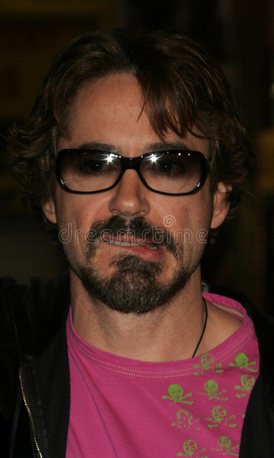 Robert Downey Jr. HOLLYWOOD, CALIFORNIA. November 2, 2005. Robert Downey Jr. at the Paramount Pictures' Get Rich or Die Tryin' Los Angeles Premiere at the stock image