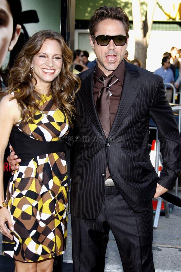 Robert downey jr i Susan Downey fotografia royalty free