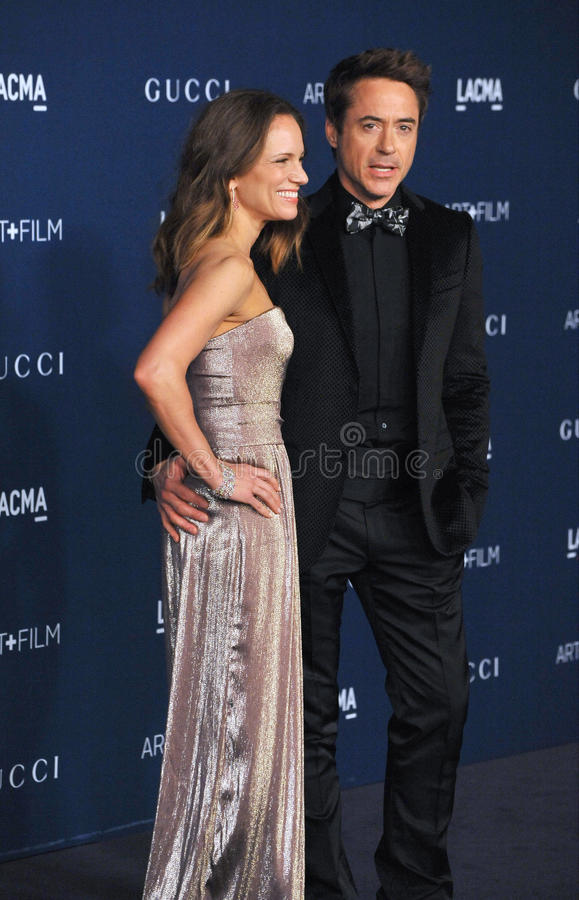 Robert Downey Jr & Susan Downey στοκ φωτογραφίες