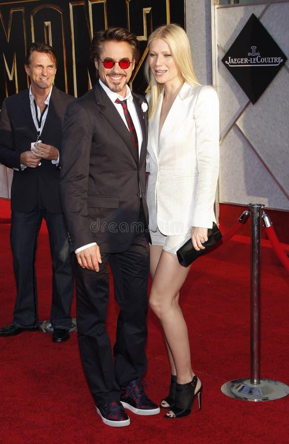 Robert Downey Jr y Gwyneth Paltrow foto de archivo