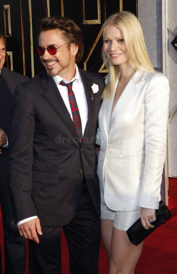Robert Downey Jr y Gwyneth Paltrow imagen de archivo libre de regalías