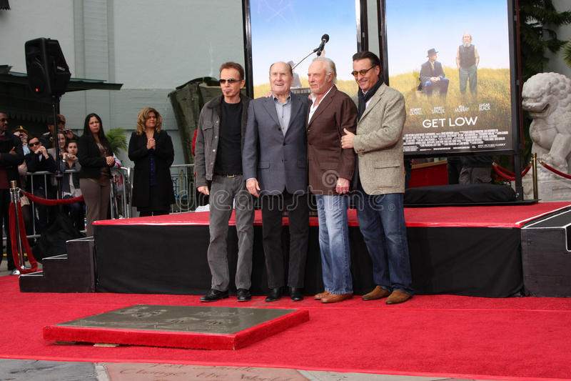 Robert Duvall, Andy Garcia, Billy Bob Thornton, James Caan, Billy BOBS Thornton image libre de droits