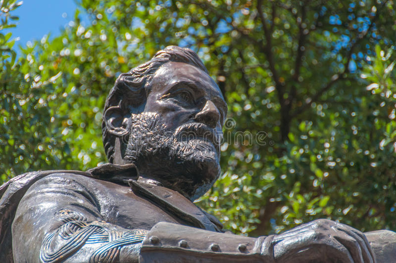 Robert E. Lee Statue. A detail from a Bronze Sculpture of Robert E. Lee at Lee Park in Dallas royalty free stock photos