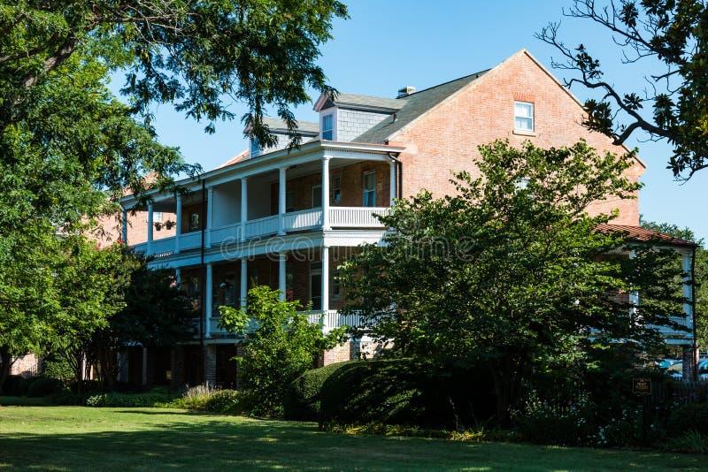 Robert E Lee Home bij Fort Monroe in Hampton, Virginia stock fotografie