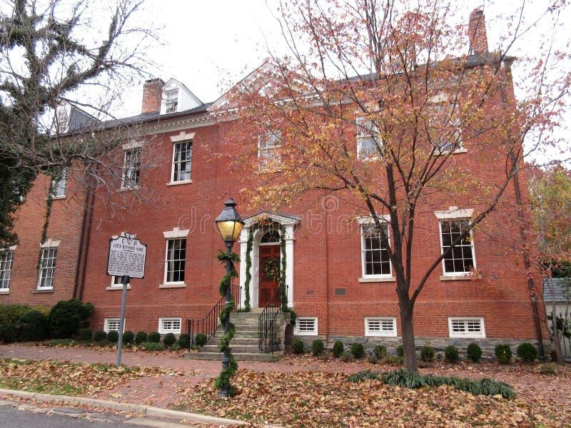 Robert E. Lee`s Boyhood Home in Alexandria VA royalty free stock images