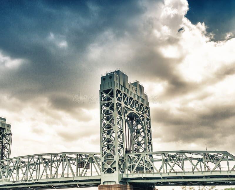 Robert F Kennedy Bridge, de Stad van New York royalty-vrije stock foto's