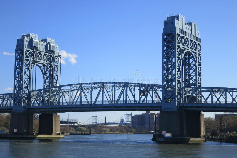 Robert F. Kennedy Bridge in New York City. The Robert F. Kennedy Bridge (formerly known as the Triborough), which connects Manhattan, Queens and the Bronx royalty free stock photography