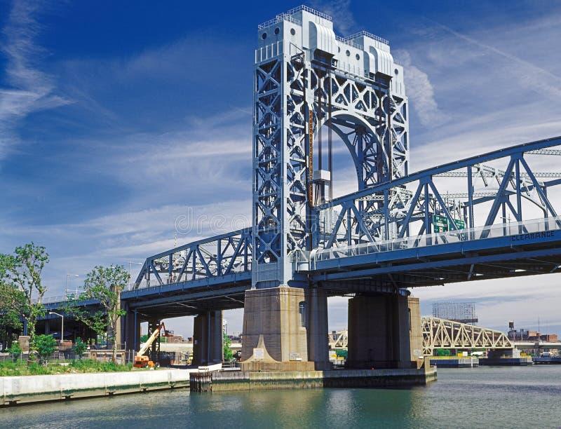 Robert F. Kennedy Bridge. Fragment of the Robert F. Kennedy Bridge, NYC stock photography