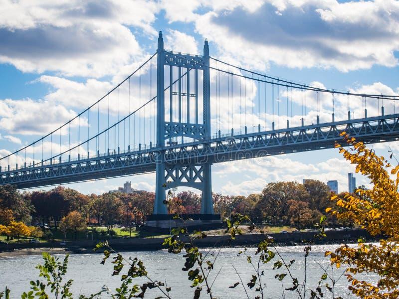 Robert F. Kennedy bridge in New York royalty free stock image