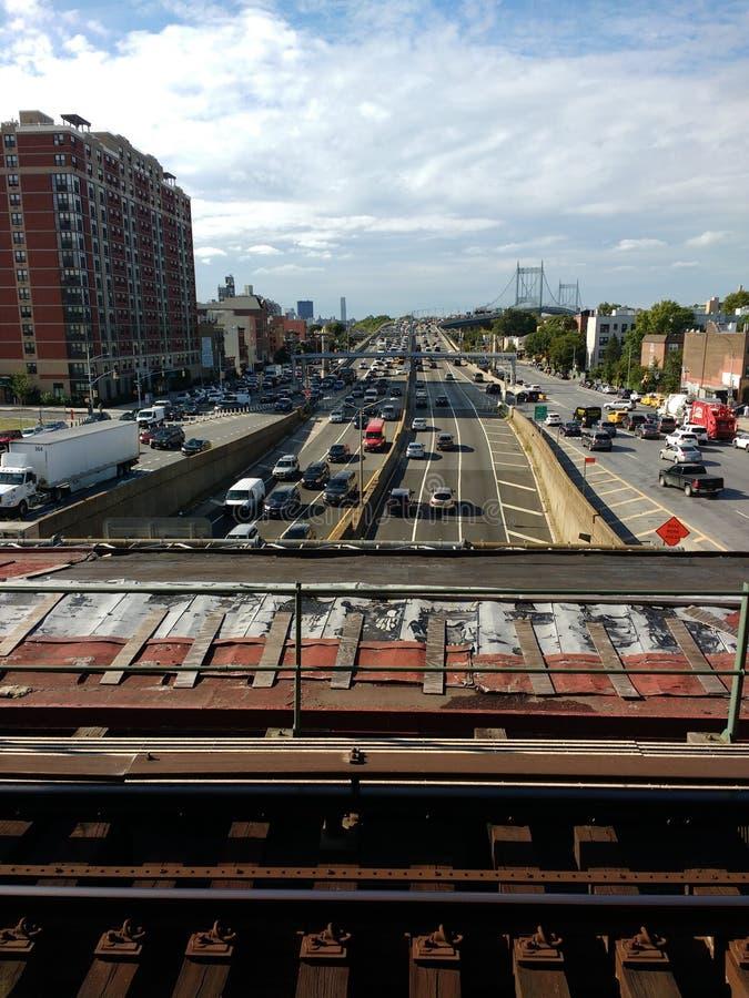 Robert F Kennedy Bridge, ponte di Triborough, pontedel theRFK Triborough, pontedel theRFK, theRFK, Astoria, Queens, New Y immagini stock libere da diritti