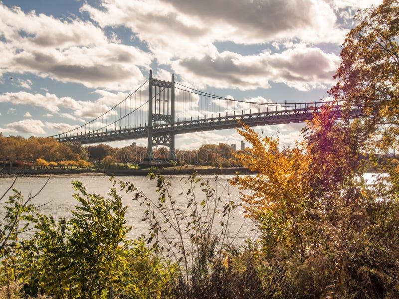 Robert F. Kennedy bridge. In New York stock photography