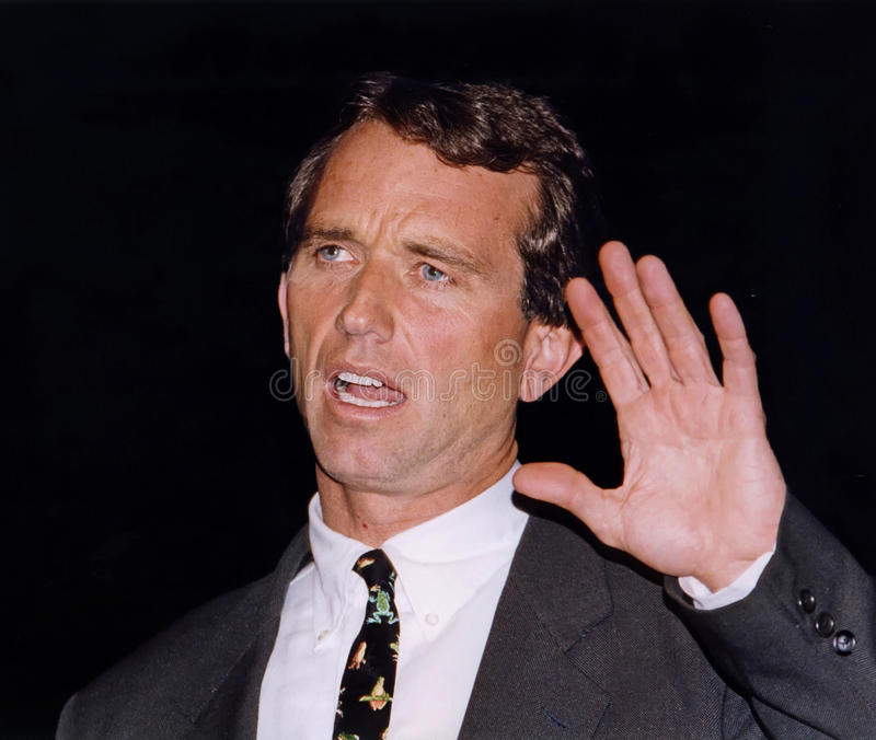 Robert F. Kennedy Jr. Addresses an audience at the Jewish Community Center of MetroWest in West Orange, New Jersey, on March 17, 1999. He addressed royalty free stock image