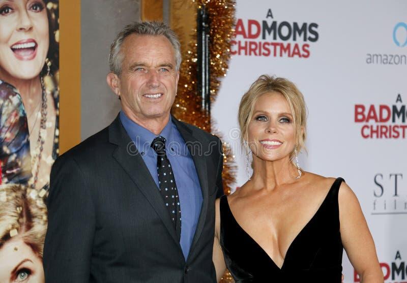 Robert F Kennedy Jr en Cheryl Hines stock foto