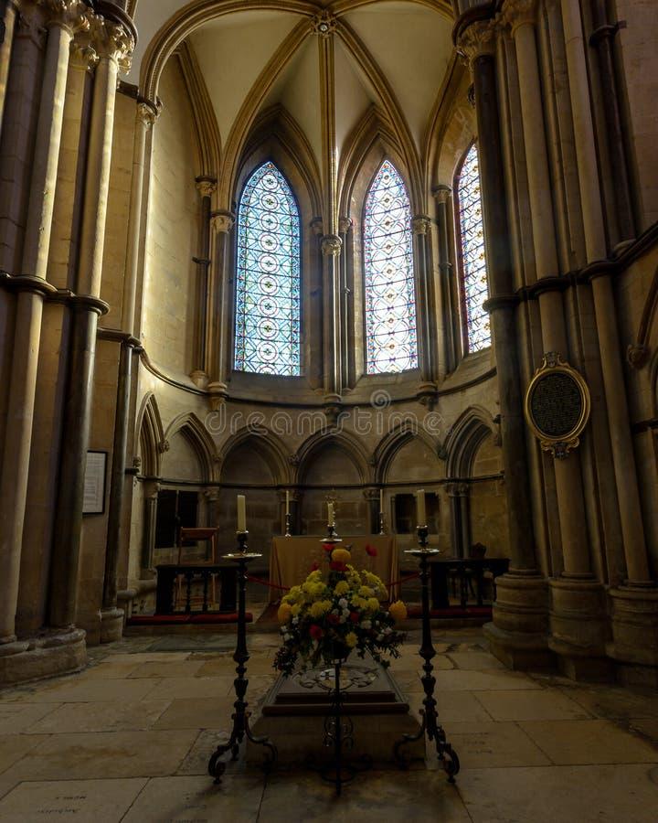 Robert Grosseteste Chapel no transepto do sudeste em Lincoln Cathe imagens de stock royalty free