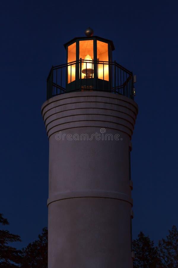 Robert H. Manning Memorial Lighthouse Shining stock images