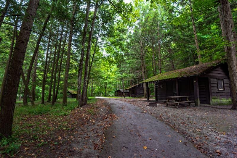 Robert H Parco di stato di Treman: Cabine fotografia stock