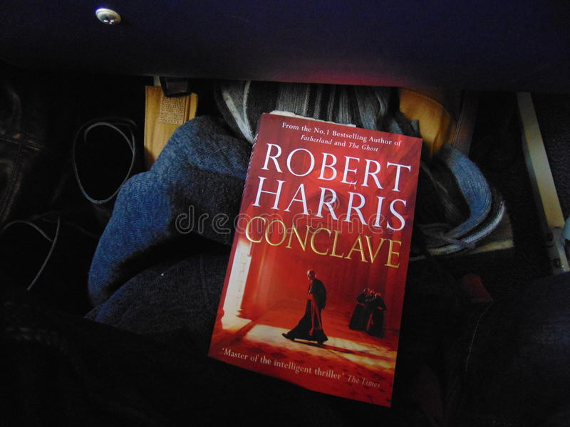 Robert Harris Conclave Book. The latest released book from Robert Harris. Conclave is a book of mystery and religion royalty free stock photos