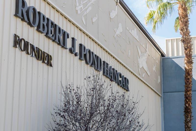 Robert J Cintre d'étang au musée d'air de Palm Springs, la Californie images libres de droits