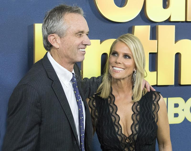 Robert Kennedy Jr. and Cheryl Hines stock photography