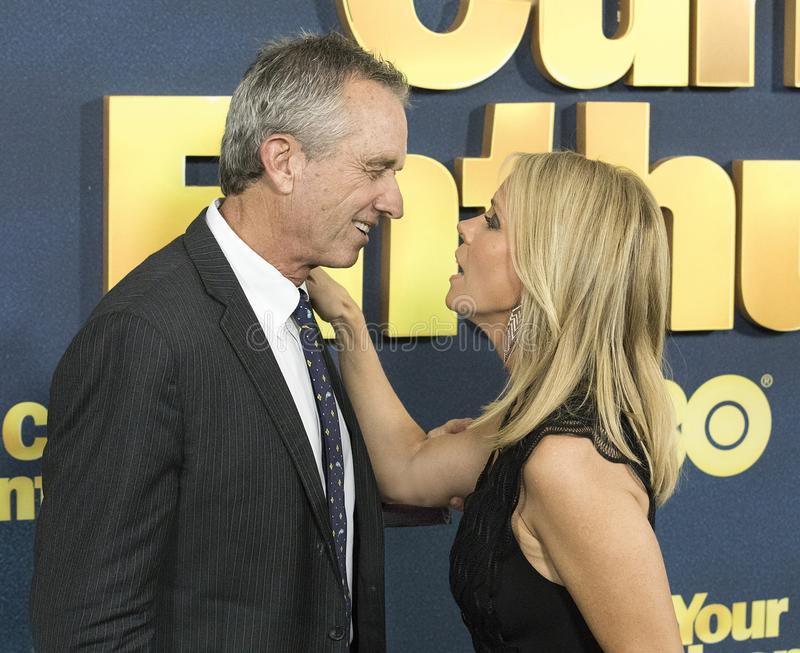 Robert Kennedy Jr. and Cheryl Hines royalty free stock photo