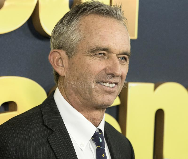 Robert Kennedy Jr. Environmentalist, philanthropist, and humanitarian Robert Kennedy Jr. arrives for the New York City premiere of HBO`s `Curb Your Enthusiasm royalty free stock photography