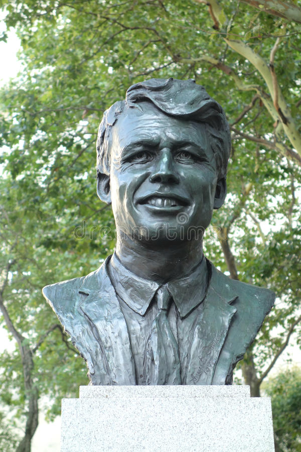 Robert Kennedy Statue stock afbeeldingen