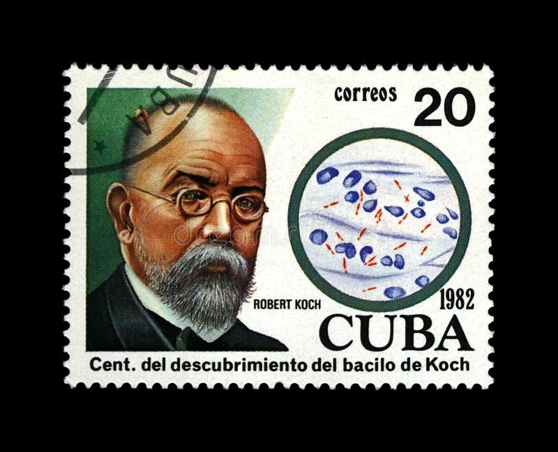 Robert Koch, científico de la tuberculosis, explorador, bacilo de tubérculo descubridor, Cuba, circa 1982, imagen de archivo libre de regalías