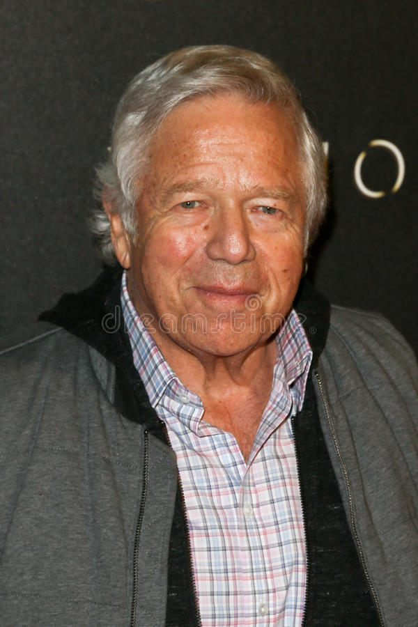 Robert Kraft. New England Patriots CEO Robert Kraft attends the `Billions` Season Two Premiere at Cipriani`s on February 13, 2017 in New York City royalty free stock photography