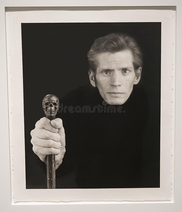 Robert Mapplethorpe Exhibit no museu de Guggenheim fotos de stock royalty free