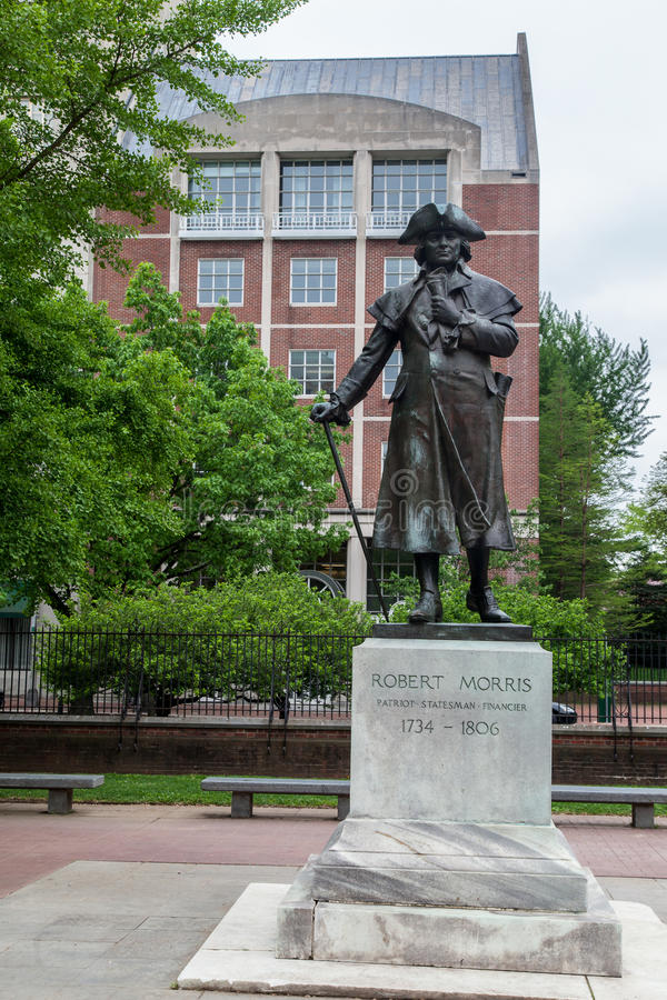 Robert Morris Monument Philadelphia stock images
