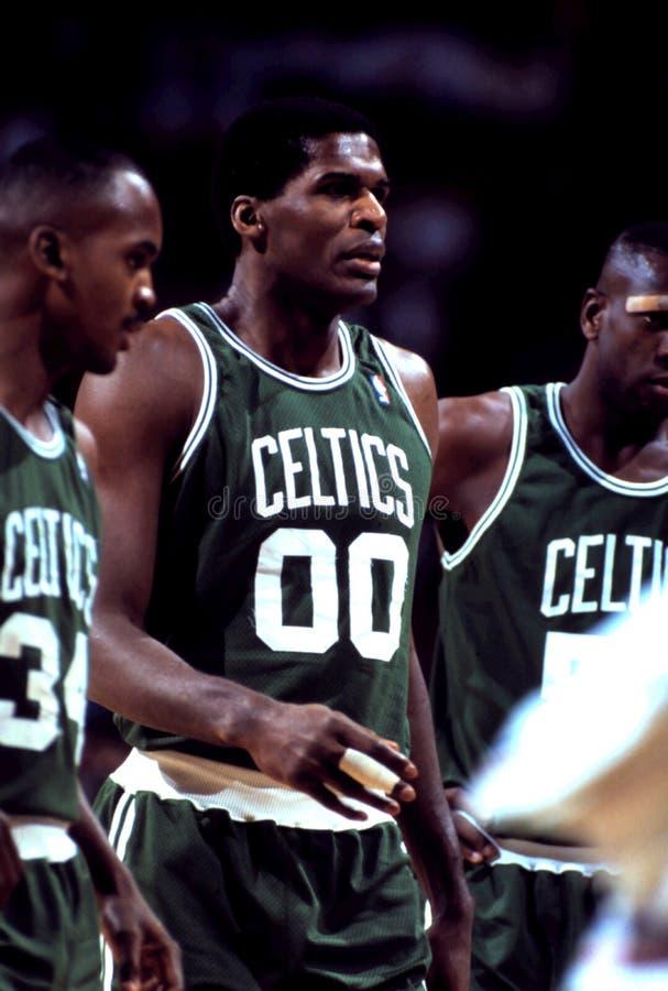 Robert Parish Boston Celtics imagen de archivo libre de regalías