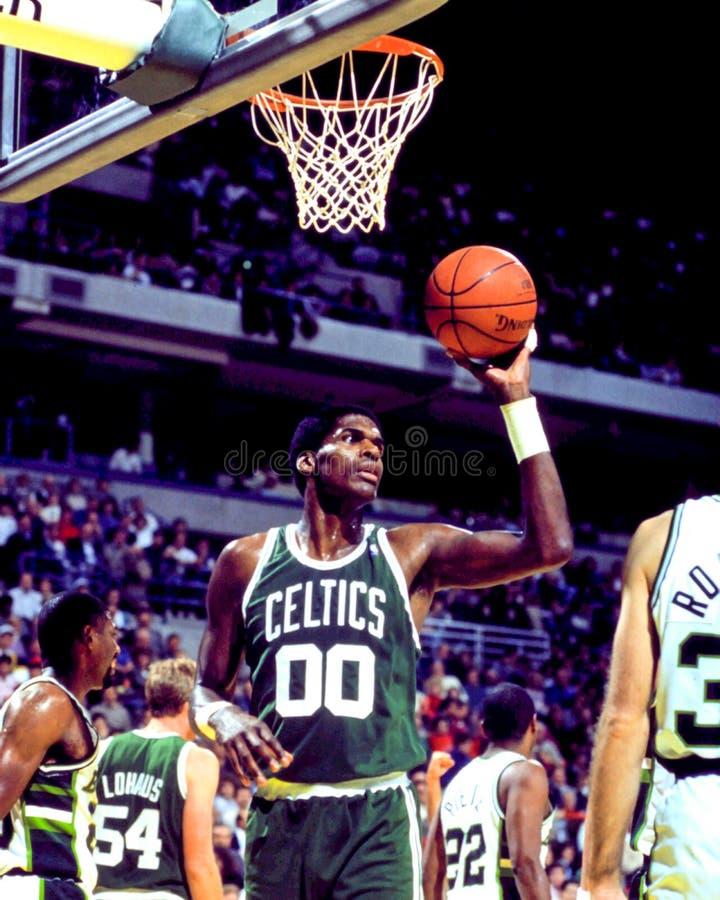 Robert Parish, Celtics de Boston fotografía de archivo libre de regalías