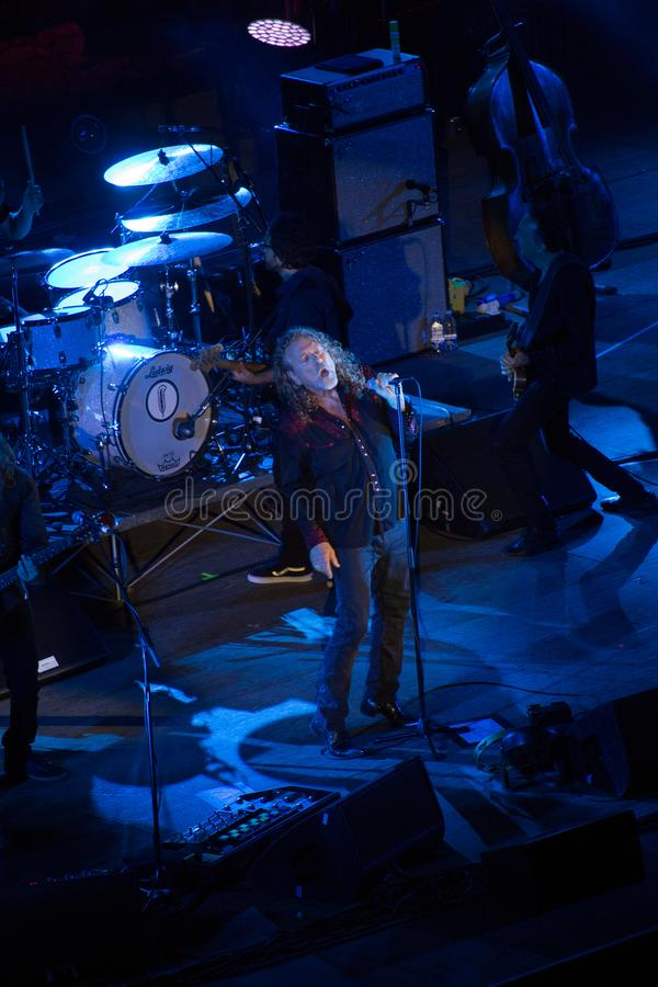 Robert Plant concert at the Ancient Theater of Taormina on July 24th 2016 royalty free stock photos