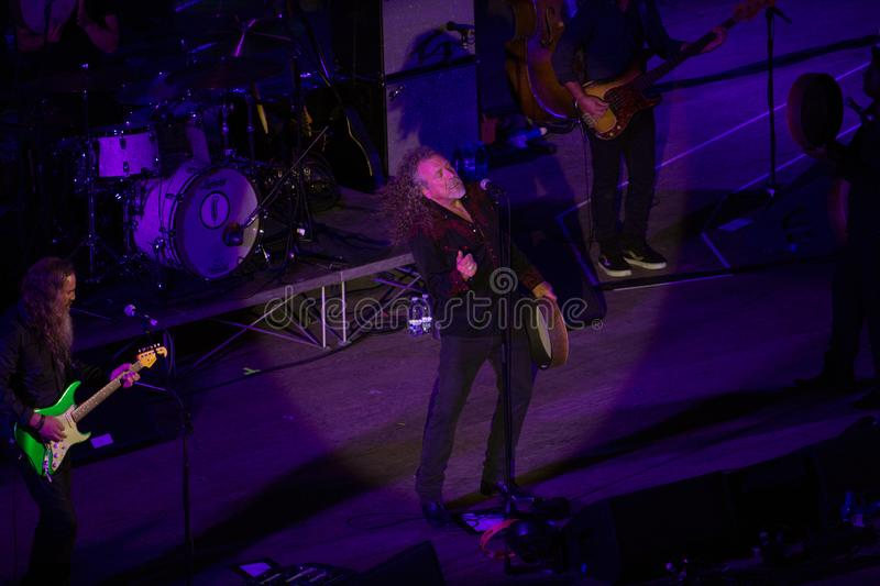 Robert Plant concert at the Ancient Theater of Taormina on July 24th 2016 stock image