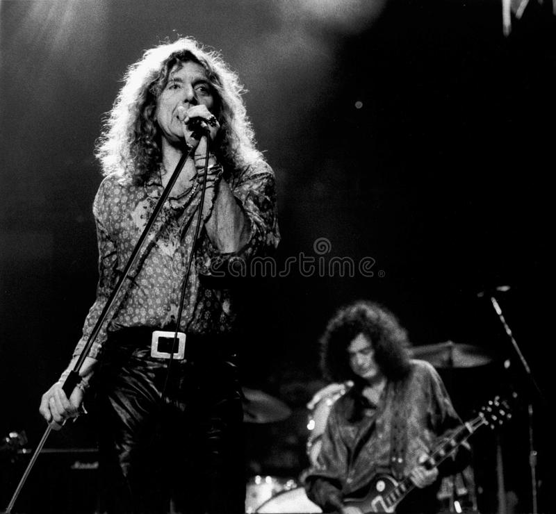 Free Robert Plant & Jimmy Page - April 9, 1995, Boston Garden - By Eric L. Johnson Photography Stock Photography - 52771262