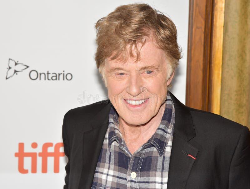 Robert Redford på premiären av gamala mannen & vapnet på Toronto den internationella filmfestivalen 2018 royaltyfri bild