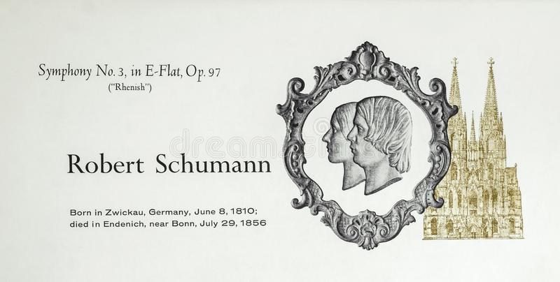 German composer Robert Schumann. Robert Schumann was a German composer, pianist, and influential music critic. He is widely regarded as one of the greatest royalty free stock images