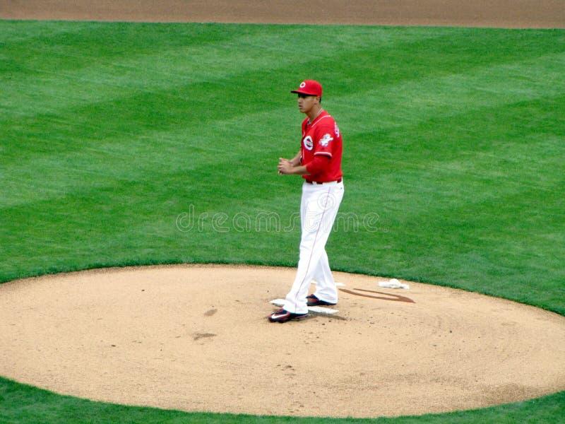 Robert Stephenson faz seu Major League Baseball Debut fotografia de stock royalty free