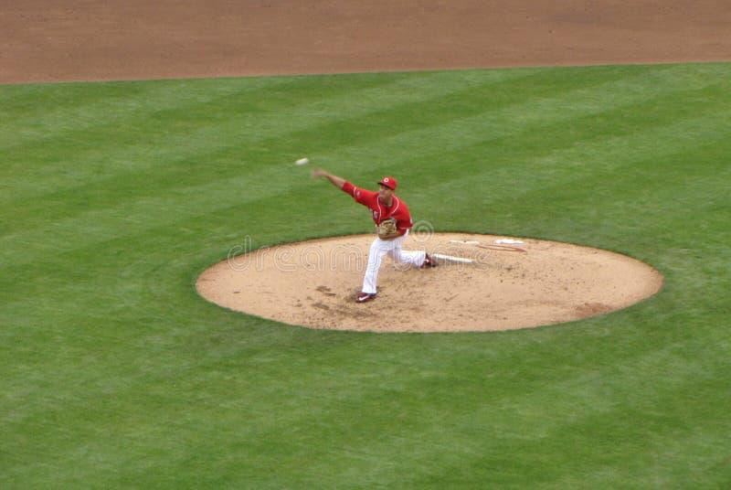 Robert Stephenson faz seu Major League Baseball Debut fotografia de stock