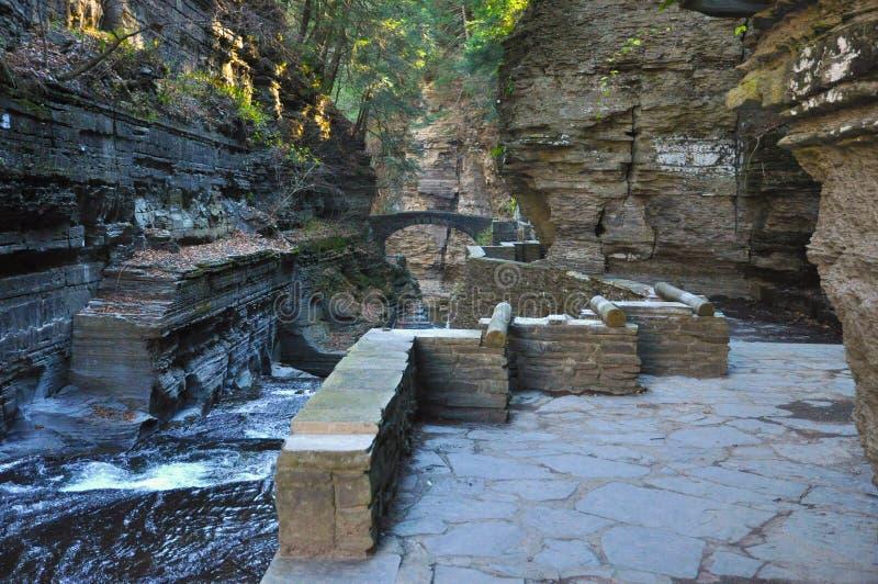 Robert Treman stanu park, Ithaca, NY zdjęcia stock