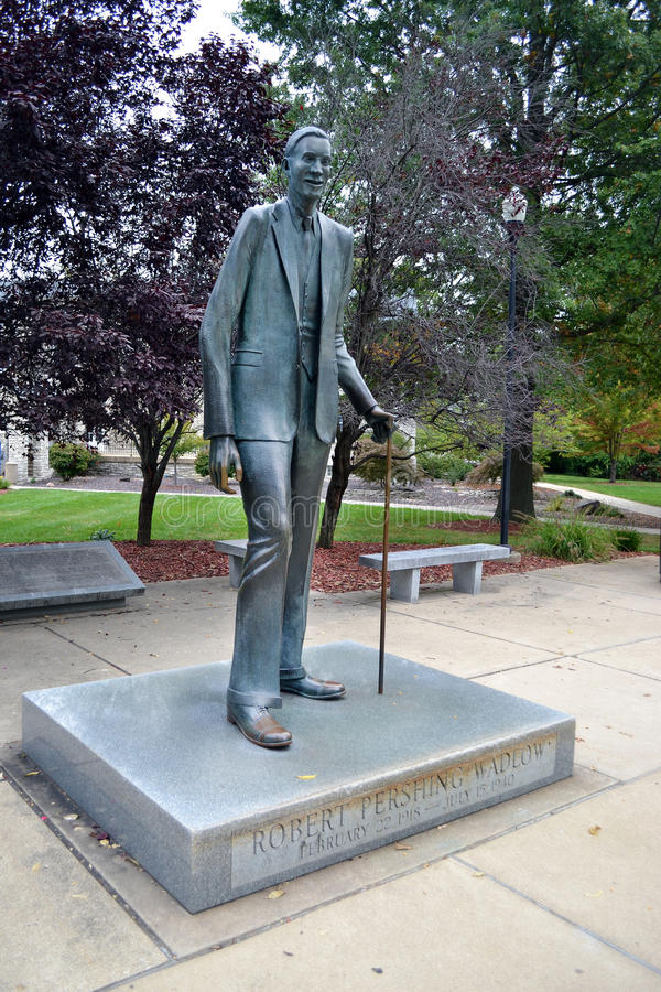 Robert Wadlow Alton Giant Statue royaltyfria foton