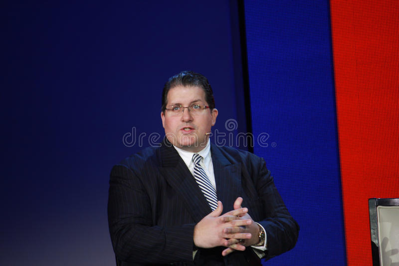 Robert Wollan a convergenza di Microsoft fotografie stock libere da diritti