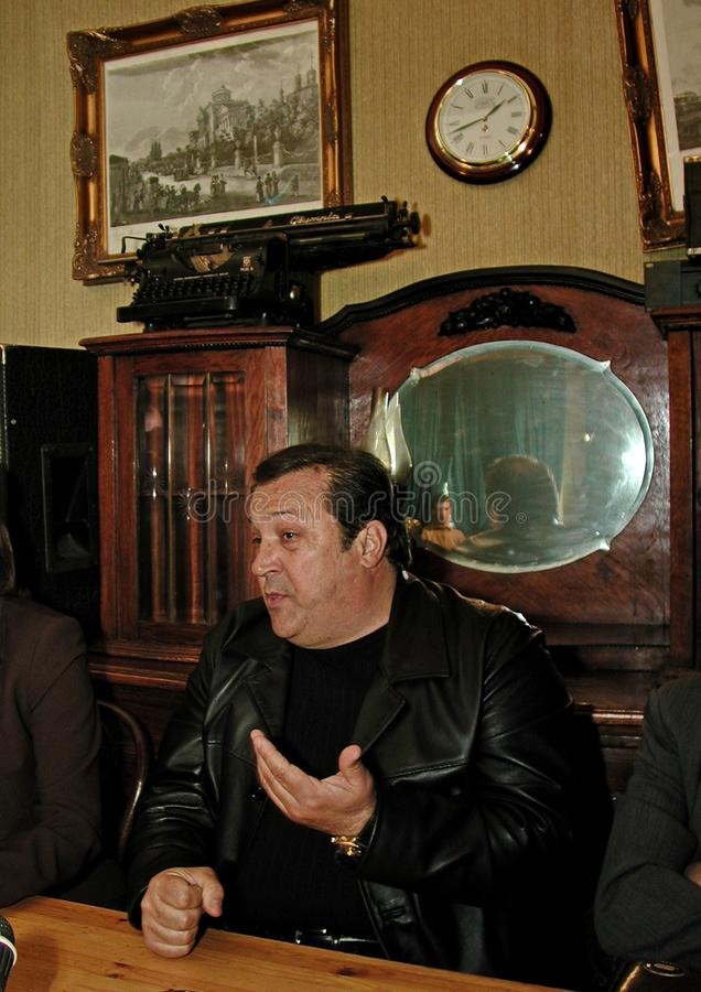 Robertino Loretti, visit in Moscow, Russia, 20-04-2003. Italian singer Robertino Loretti, visit in Moscow, Russia, 20-04-2003 The idols of the past, the star of stock images