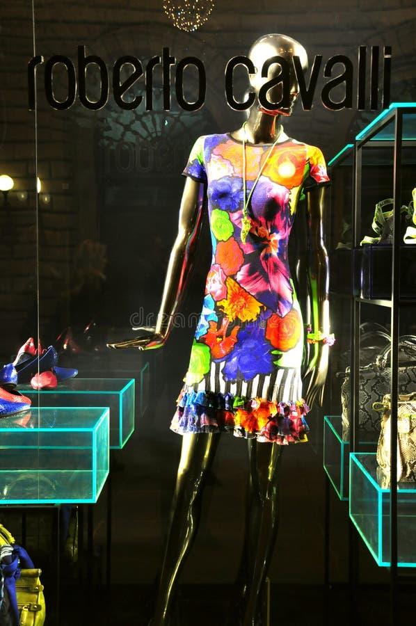 Roberto Cavalli mody sklep w Włochy fotografia stock