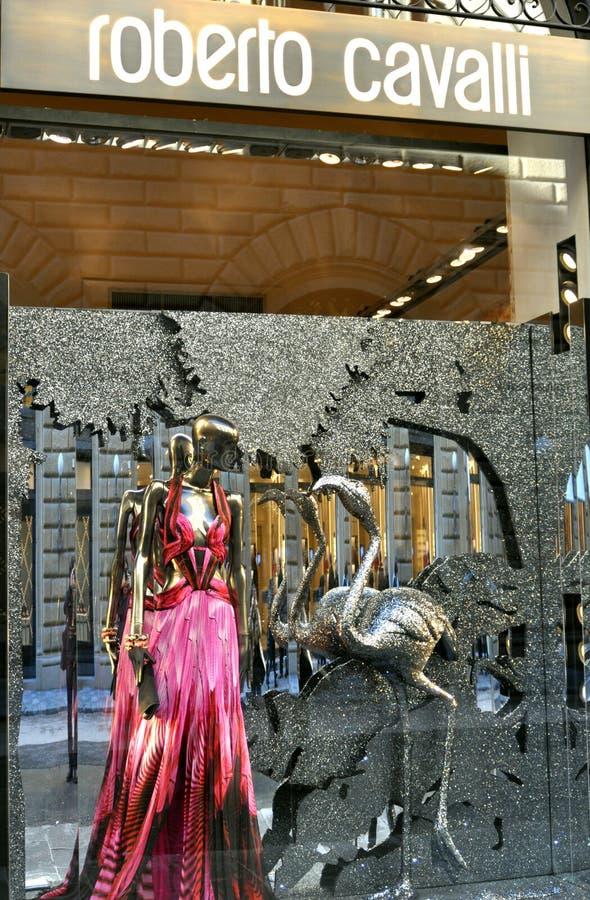 Roberto Cavalli mody sklep w Włochy zdjęcia royalty free
